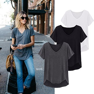 Loose Cut Casual Short Sleeve Top