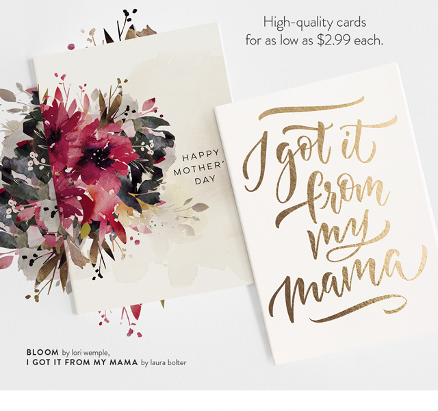 I Got It From My Mama by Laura Bolter, Bloom by Lori Wemple