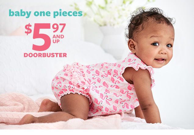 Baby one pieces | $5.97 and up | Doorbuster