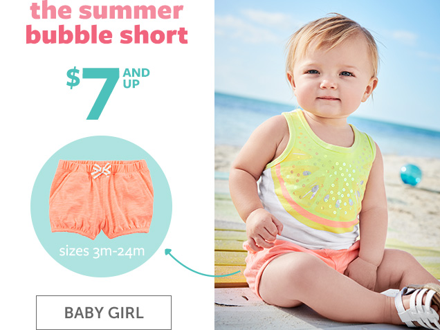 The Summer bubble short | $7 and up | Sizes 3m-24m | Baby Girl