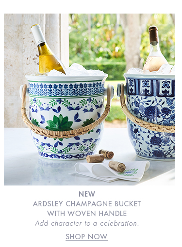 ARDSLEY CHAMPAGNE BUCKET WITH WOVEN HANDLE