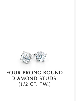 Four Prong Round Diamond Studs