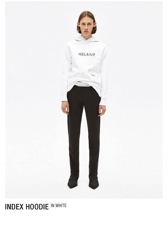 HELMUT LANG seen by Shayne Oliver Index Hoodie - white