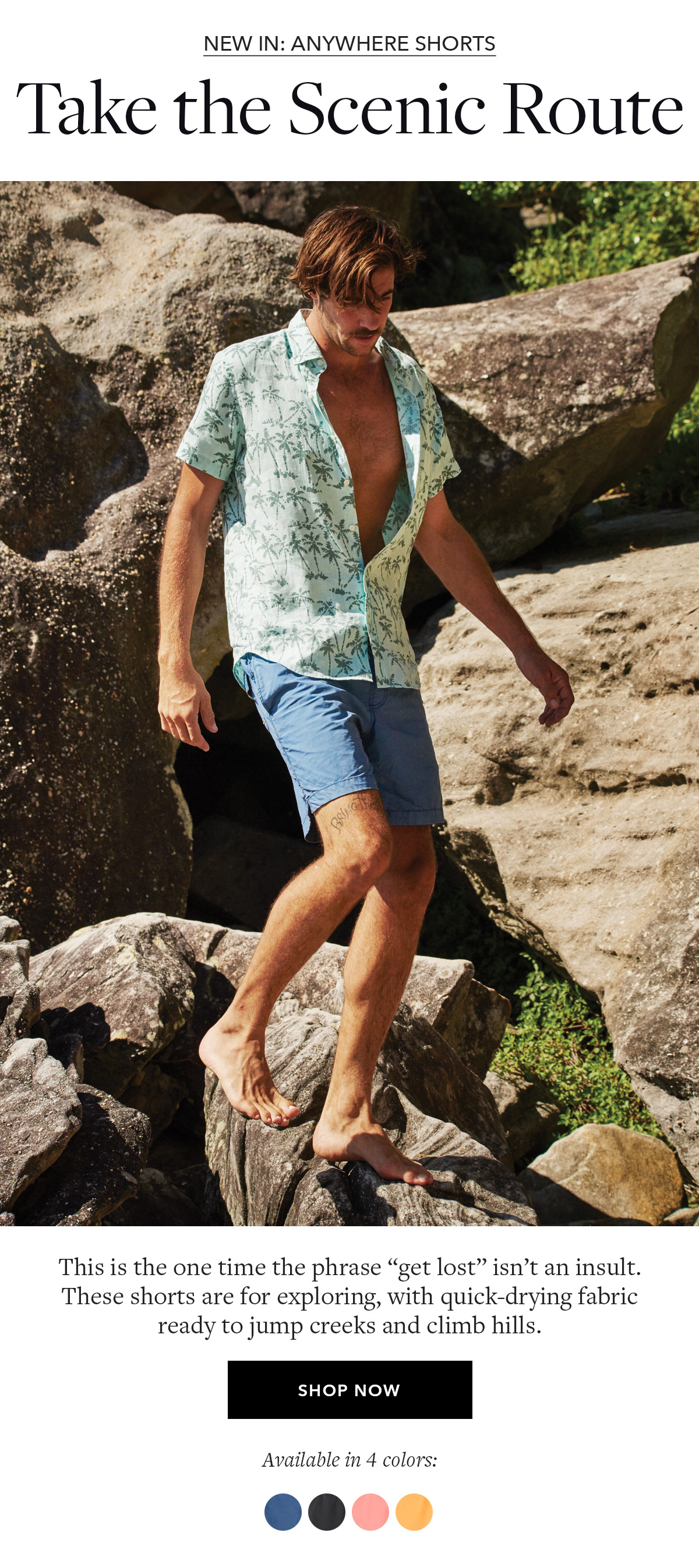 New In: Anywhere Shorts
