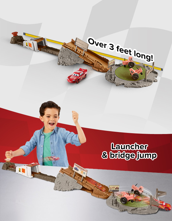 Over 3 feet long! Launcher & bridge jump
