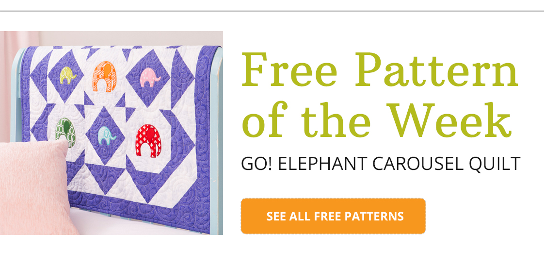 Free Pattern of the Week | GO! Elephant Carousel Quilt | SEE ALL FREE PATTERNS