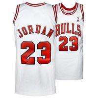 Michael Jordan Chicago Bulls Autographed Mitchell & Ness White Jersey - Upper Deck