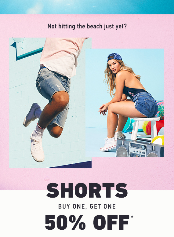 SHORTS BUY ONE GET ONE 50% OFF