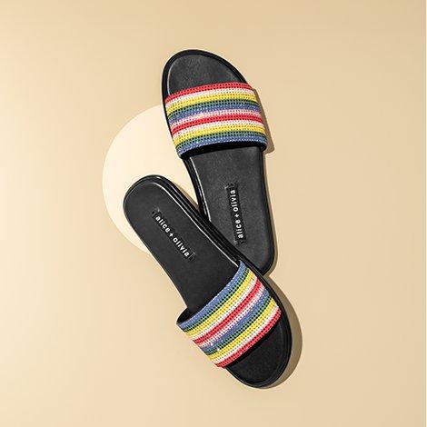 Women's slides.