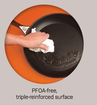 PFO-free triple reinforced surface