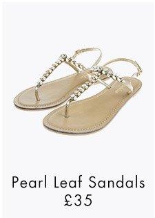 PEARL LEAF SANDALS