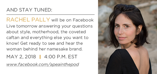 Rachel herself willbe onFacebook Livetomorrow answering your questions.