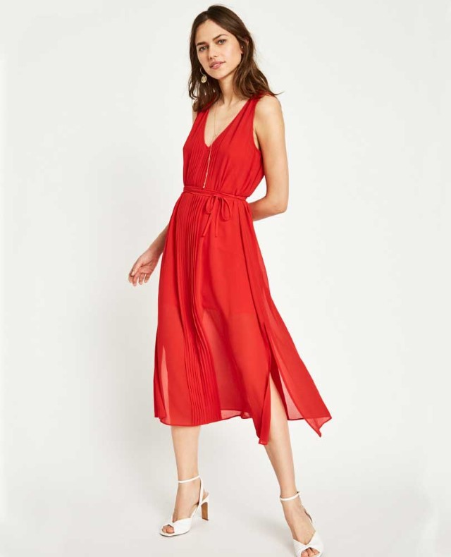 Jack Wills Long Pleated Dress