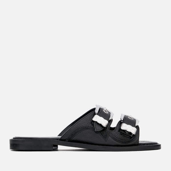 Moon Buckle Slide Sandals