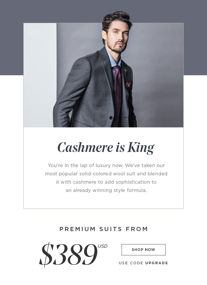 NEW SUITS FROM $399 USD