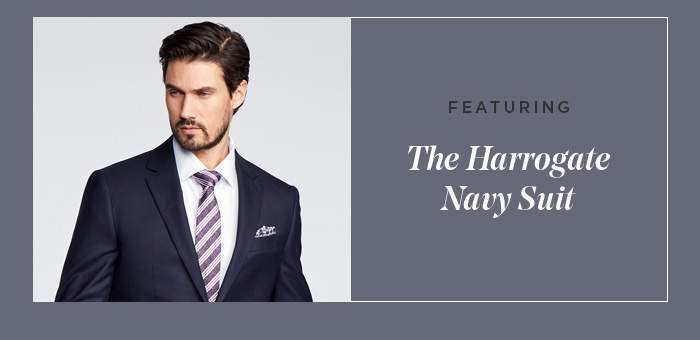 FEATURING - THE HARROGATE NAVY SUIT