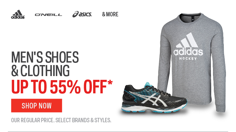 Mens Shoes & Clothing up to 55% off*