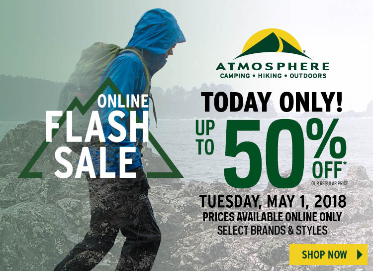Atmosphere Flash Sale: Up to 50% off*