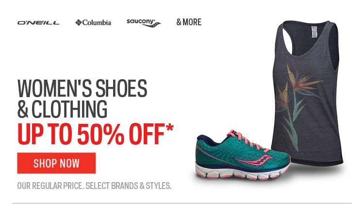 Womens Shoes & Clothing up to 50% off*