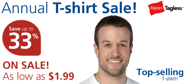 Hanes Tagless T-Shirt - Screen - White