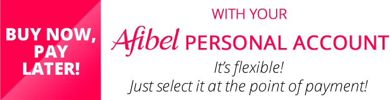 Buy now, pay later with your Afibel personal account!
