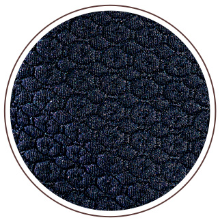 The honeycomb style fabric provides a raised feel effect. Its navy blue colour is ideal in all seasons, easy to wear and to match.