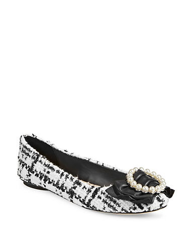 Karl Lagerfeld Paris Larza Faux Pearl-Embellished Ballet Flats