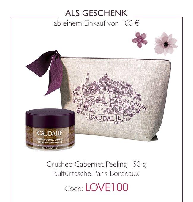 ALS GESCHENK ab einem Einkauf von 100  - Crushed Cabernet Peeling 150 g - Kulturtasche Paris-Bordeaux - Code: LOVE100