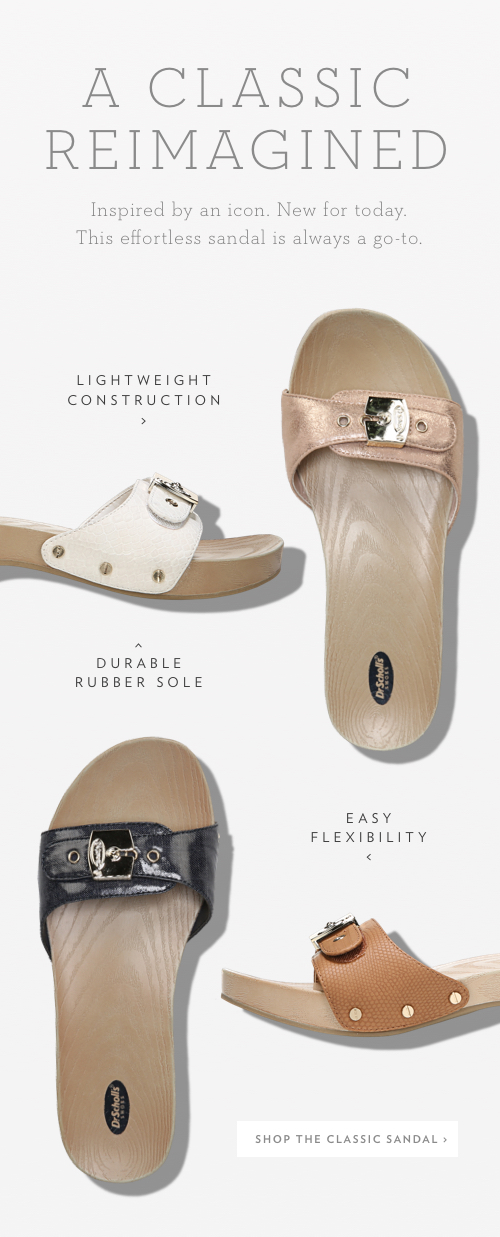 A classic reimagined. Inspired by an icon. New for today. This effortless sandal is always a go-to. Lightweight construction, durable rubber sole, and easy flexibility. Shop the Classic Sandal.