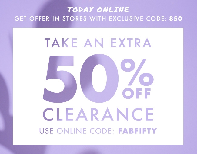 50%off Clearance!