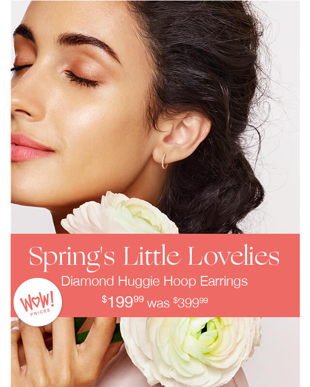 Spring's Little Lovlies | Diamond Huggie Hoop Earrings $199.99 was $399.99