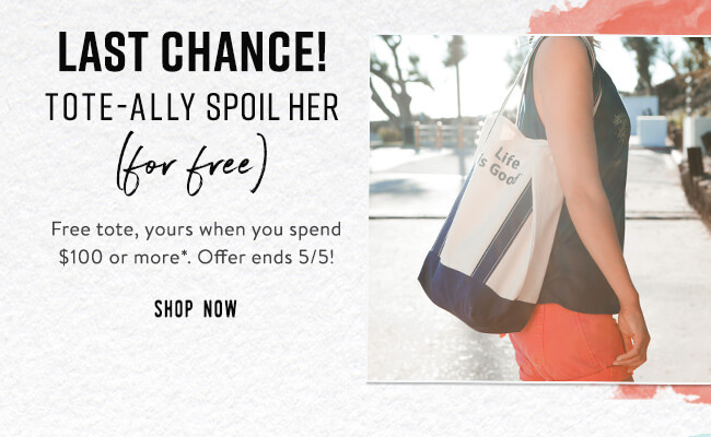 Last Change to get a Free Tote with a $100 Purchase