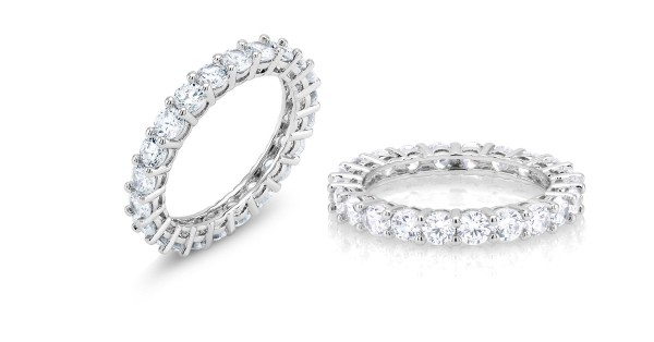 Cubic Zirconia Classic Eternity Band