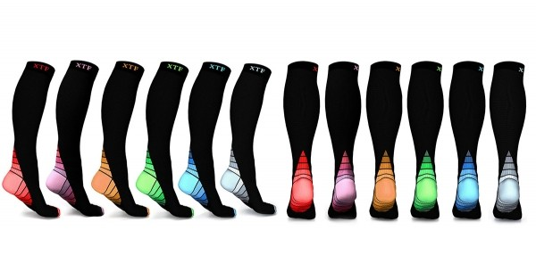 6 Pairs: Unisex Sports Compression Socks