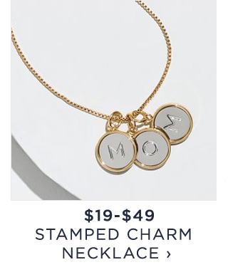 $19-$49 - STAMPED CHARM NECKLACE