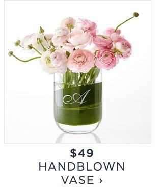 $49 - HANDBLOWN VASE