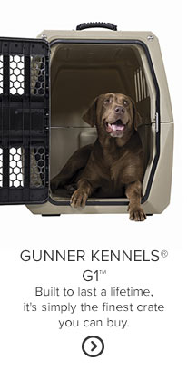 GUNNER KENNELS G1 Built to last a lifetime, it's simply the finest crate you can buy.
