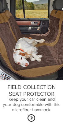 FIELD COLLECTION SEAT PROTECTOR Keep your car clean and your dog comfortable with this microfiber hammock.