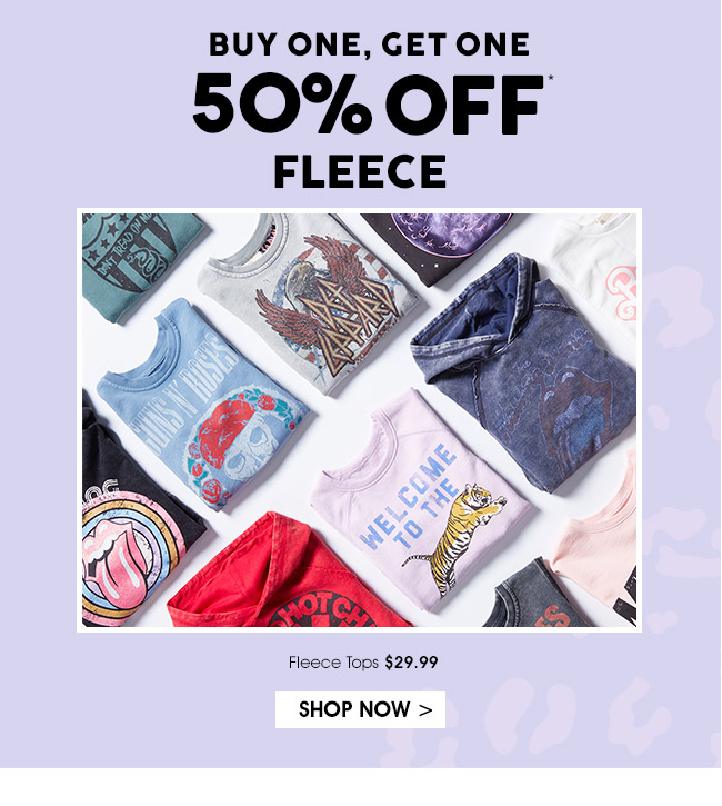Shop BOGO 50% Off Fleece