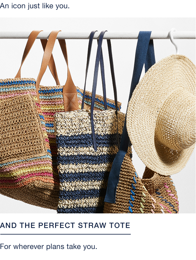 AND THE PERFECT STRAW TOTE