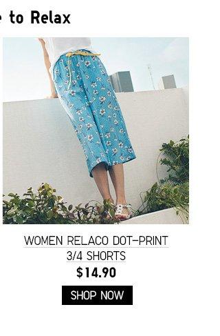 WOMEN RELACO DOT-PRINT 3/4 SHORTS $14.90 - SHOP NOW