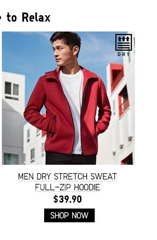 MEN DRY STRETCH SWEAT FULL-ZIP HOODIE $39.90 - SHOP NOW