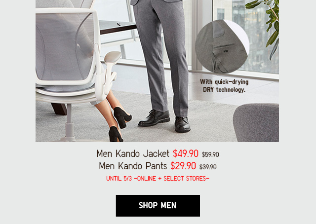 FEEL THE STRETCH - MEN KANDO PANTS $29.90 - MEN KANDO PANTS $29.90 - SHOP MEN