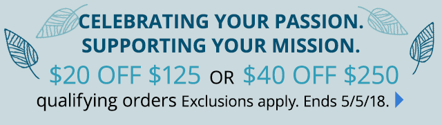 Global $20 off $125 or $40 off $250 qualifying orders