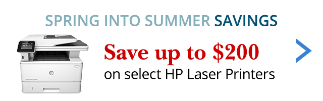 Save up to $200 on select HP Laser Printers