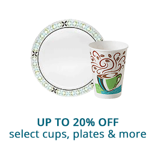 Save up to 20% off select cups, plates & more