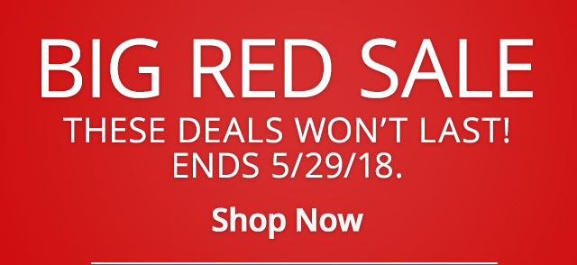 Big Red Sale Shop Now