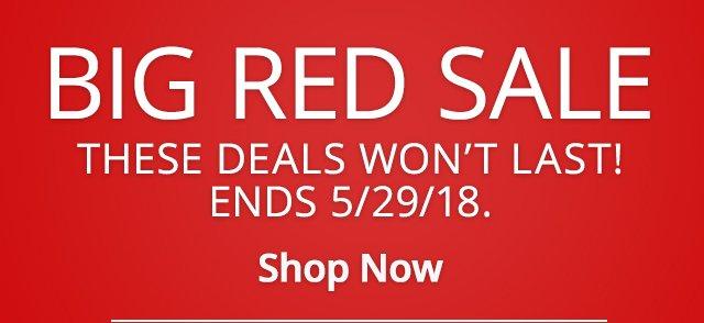 Big Red Sale Shop Now