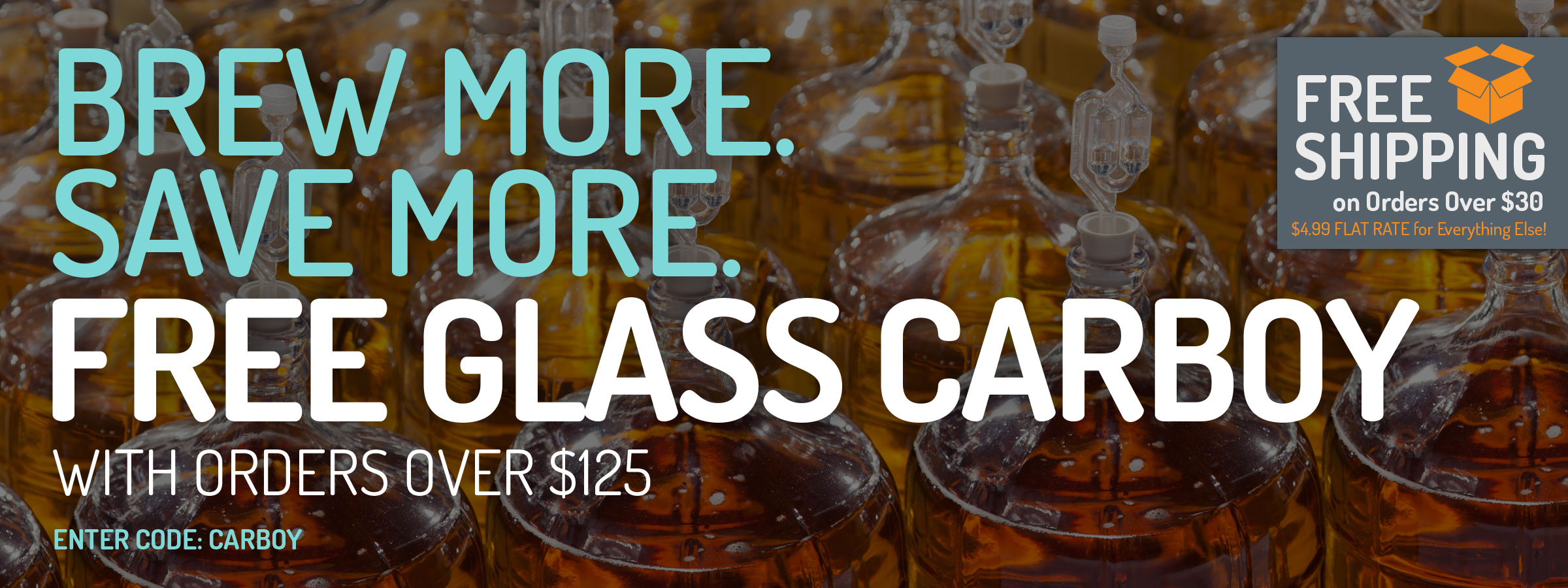 Free Glass Carboy With Orders Over $125