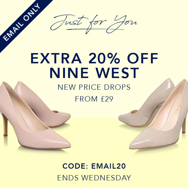 Just for you: Extra 20% off Nine West